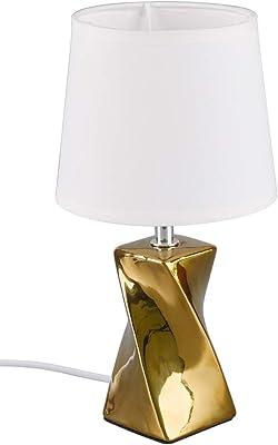 Reality Leuchten R50771579 Lampe de Table, Céramique, Couleur : doré, Höhe 28,5cm
