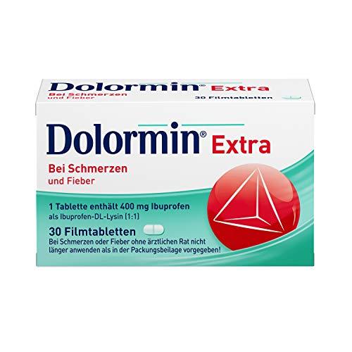 Dolormin Extra – Schnelle Hilfe bei Schmerzen – wie Kopf-, Zahn- und Regelschmerzen – mit Ibuprofen-Lysin – 30 Stück