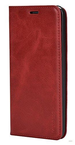 Mulbess Funda ASUS ZenFone 2 ZE500kl [Libro Caso Cubierta] Slim de Billetera Cuero de la PU Carcasa para ASUS ZenFone 2 ZE500kl Case, Vino Rojo