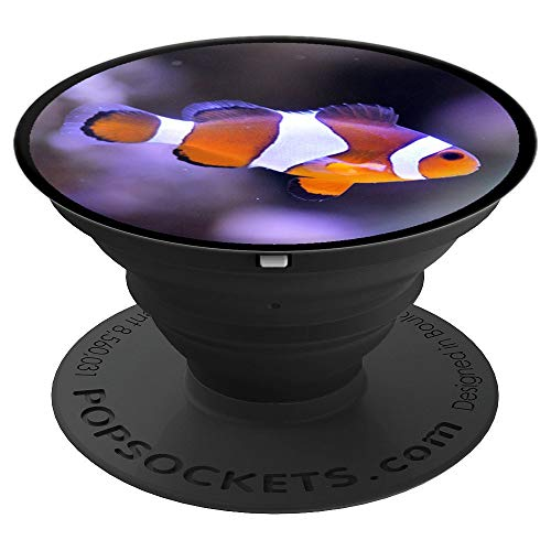 Funny Clownfish Anemone Clown Gift Fish Tank Aquarium Fishes PopSockets Grip and Stand for Phones and Tablets