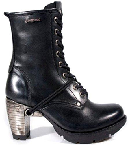 New Rock TR001-S1 Damen Trail Schwarz Leder Gothic Punk Spitze Stiefel 40