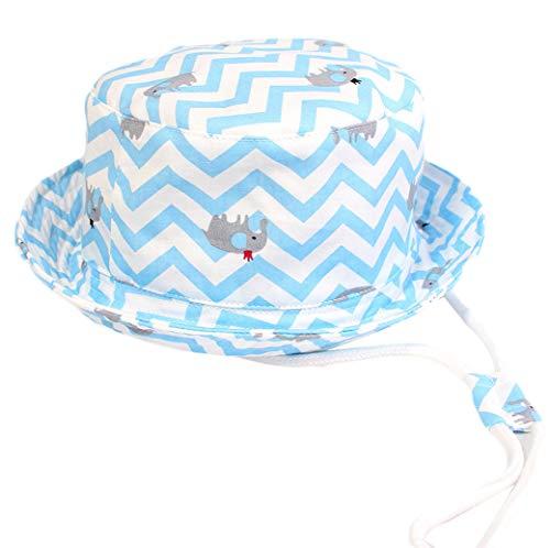 DELEY kinderen kleine kinderen zonwering strand hoed jongen meisjes brede rand rand zomer spelen hoed katoen baby emmer hoed met kinriem