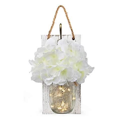 SJHP Pendentif décoratif, boîte rectangulaire d'applique Dans la Chambre et le Salon, Chandelier Mural Antique, Lampe de fée Avec télécommande,