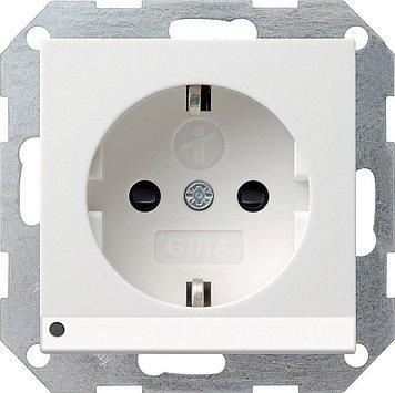 Gira 117003 Schuko-Steckdose reinweiss LED-Beleuchtung System55 m.Kinderschutz