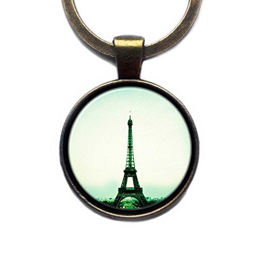 Paris Eiffel Tower Keychain Bronze Schlüsselanhänger