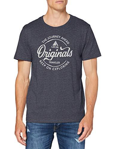 Jack & Jones JORNAMEN tee SS Crew Neck FST Camiseta, Azul Marino, XL para Hombre