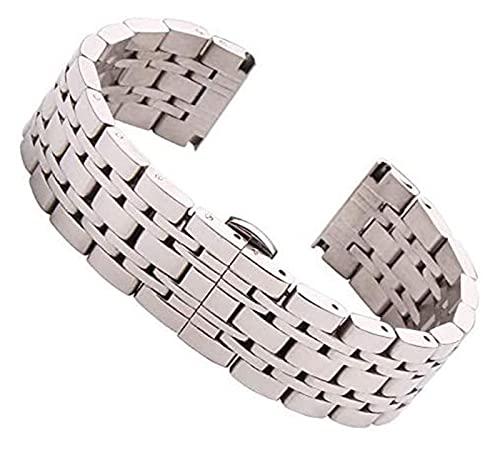 18 mm 20 mm 22 mm de acero inoxidable reloj de la banda de la banda de plata pulida para hombre de reemplazo de lujo de la banda de reloj de reloj de reloj de reloj de reloj de reloj de reloj correa d