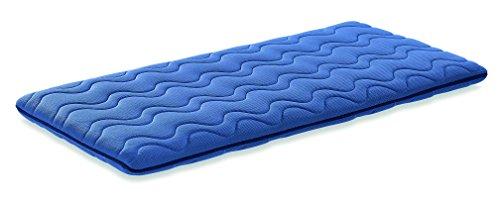 Colchón de cuna de viaje, 120 x 60, color azul