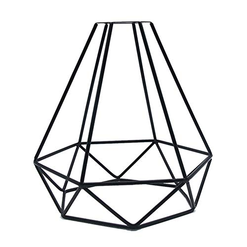 Syfinee Iron Wire Bulb Cage Industrial Vintage Lamp Holder Geometric Pendant Metal Lamp Guard Retro Ceiling Light Shade Iron Cage