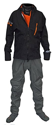 Ocean Rodeo Heat Breathable Drysuit with Softsocks 2.0 (Gen 2.0, Large, Black)