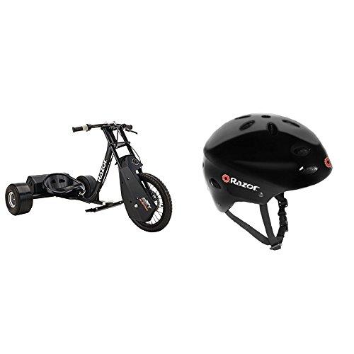 Razor DXT Electric Drift TrikE w/ Razor V-17 Youth Multi-Sport Helmet