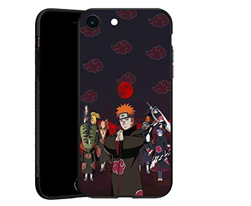 Naruto Akatsuki 01, carcasa TPU ultrafina negra para iPhone 6/6S