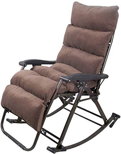 Suge Patio Lounger Chair Zero Gravity Lehnstuhl Büro Mittagspause Siesta Stuhl Waschbar Braun, Blau, Rot Zero Gravity Chair (Color : Brown)