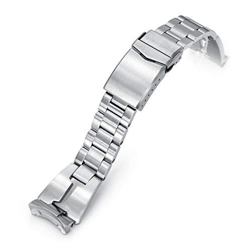 MiLTAT 22mm Armband für Seiko skx007 skx009 skx171 skx173, Retro Rasiermesser Schraubverbindungen