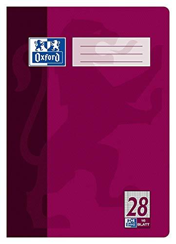 Oxford Heft A4 Lin. 28/384401628 90g/qm Optik Paper. (4 Stück)