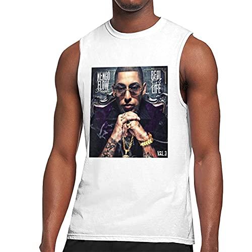 None-Branded Camiseta sin mangas de verano Ñengo Flow para hombre
