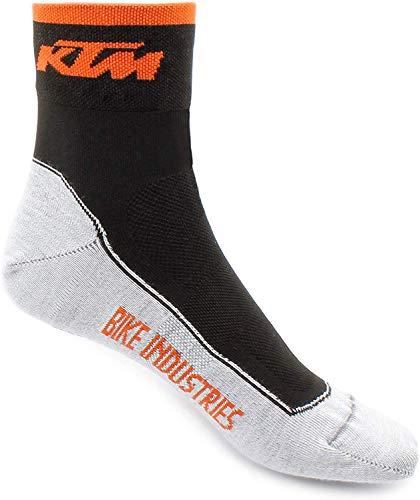 BISOMO KTM Socken Factory Line Schwarz Weiß Orange Gr. 36-39