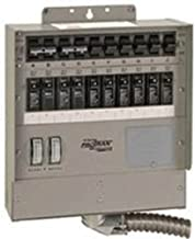 510C Pro/Tran2 50-Amp 10-Circuit 2 Manual Transfer Switch with Watt Meters
