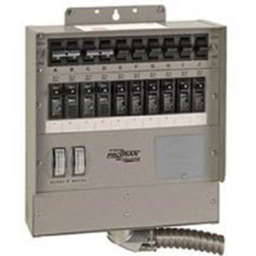 510C Pro/Tran2 50-Amp 10-Circuit 2 Manual Transfer Switch with Watt Meters