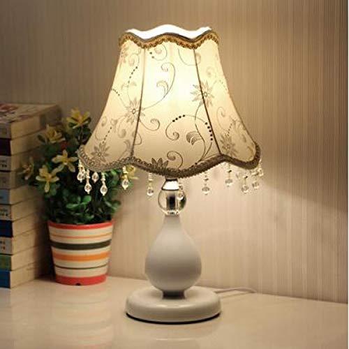 WWWL Lámpara Escritorio Dormitorio Europeo pequeña lámpara de Mesa Moderna Regulable LED lámpara de alimentación de Ahorro de energía, luz de Noche Ajustable Buttonswitch