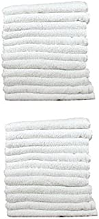 BR Beauty Economy White Salon Towels, White, 24 Towels per Pack
