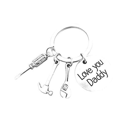 Lalang Mini martillo Destornillador Llave Jewerly Metla charms llavero artesanal para Padre regalo