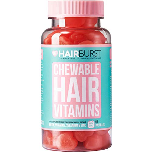 Chewable Hair Vitamins for Hair Growth - Anti Hair Loss & Thinning Hair Multivitamins - Skin Nails Hair Supplements for Women - Biotin Hair Regrowth Pills - 60 Chewy Gummy Tablets 1 Month - Hairburst
