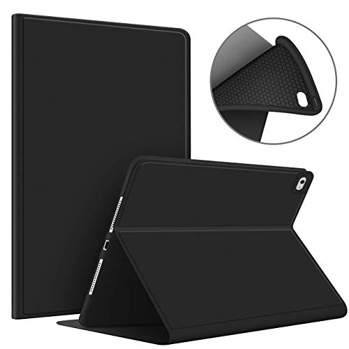 VAGHVEO Funda para iPad Mini 4/Mini 5 7,9 Pulgadas Piel PU Smart Case Cover a Prueba de Golpes [Auto-Sueño/Estela], Flexible Suave TPU Cubierta Trasera Protectora para Apple iPad 7,9' Mini 4 5, Negro