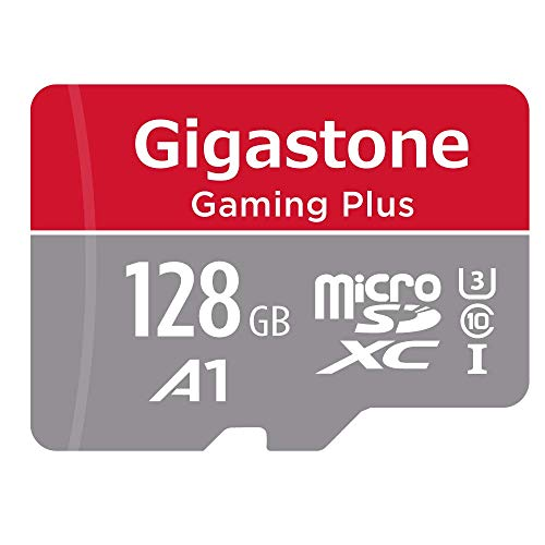 Gigastone MicroSD Tarjeta de 128GB con Adaptador(U1 C10 Clase10), Proporcionar con Full HD,Tarjeta de Memoria Micro SDXC UHS-I