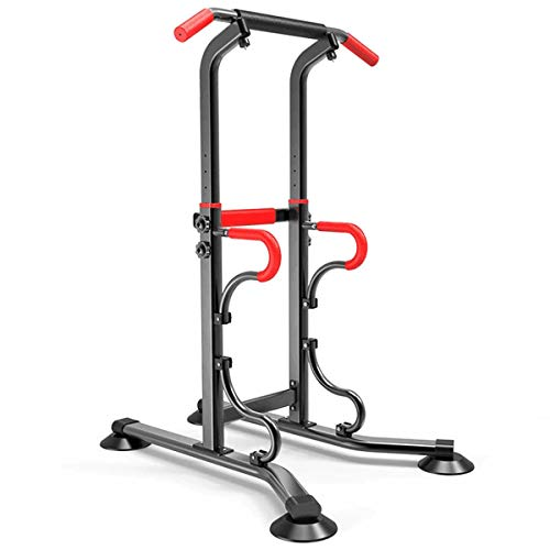 HT&PJ Power Tower - Jaula multifuncional para dominadas, apta para ejercicio y fitness en el gimnasio, y también para uso familiar (negro)