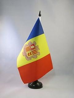 AZ FLAG Bandera de Mesa de Andorra 21x14cm - BANDERINA de DESPACHO ANDORRANA 14 x 21 cm
