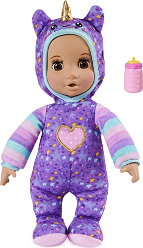 Luvzies by Luvabella, Unicorn Onesie 11-inch Cuddly Baby Doll with...