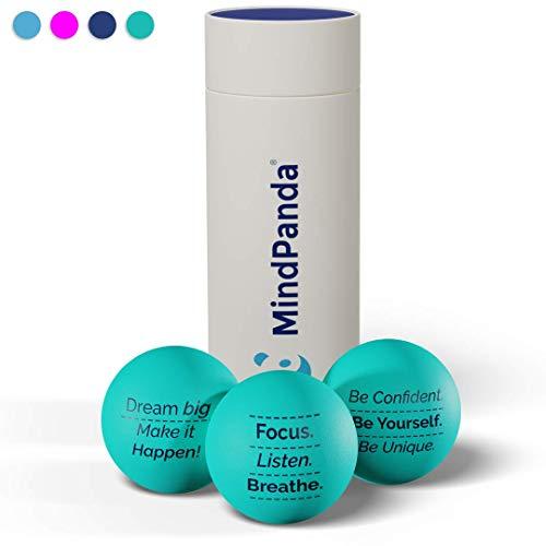 MindPanda 3X motivierende Stressbälle von Der perfekte Anti-Stressball für Erwachsende und Kinder zur Unterstützung bei Stressabbau und Angstzuständen
