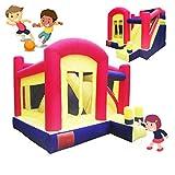 Hüpfburgen Aufblasbare Burg für Kinder Indoor Kleine Rutsche Kindergarten Outdoor Trampolin Sommer Kinder Vergnügungspark Home Playground Zubehör (Color : Color, Size : 400 * 360 * 280cm)