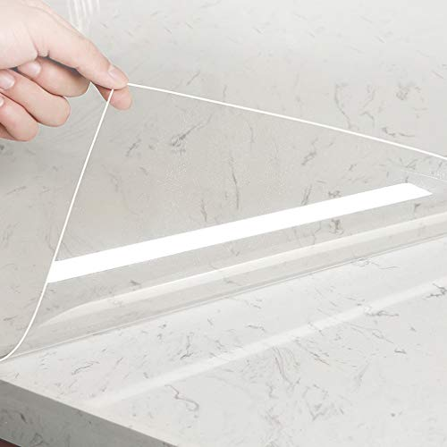 KINLO Transparent Klebefolie Selbstklebende Möbelfolie Spritzschutz Buchschutz Folie Wandschutzfolie Wasserdicht Aufkleber Oberflächenschutz für Möbeln, Fliesen und Tischplatten 60 x 500 cm