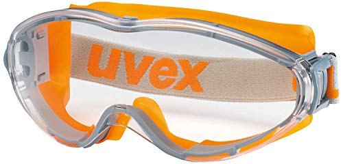 Uvex Ultrasonic Vollsichtschutzbrille - Supravision Excellence - Transparent/Grau-Orange 🔥