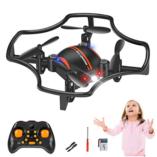 Mini Drone for Kids, Coolest Hand Operated Quadcopter Drone, Portable RC Flying Toys Mini Drone with 3D Flips, Auto Hovering, Headless Mode and LED Lights, Great Gift/Toys for Boys & Girls
