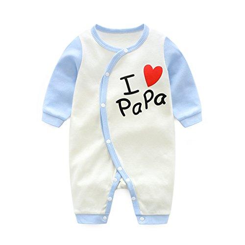 Bebé Mono Mameluco - Niños Niñas Pelele Bebé Pijamas Algodón Una Pieza Mameluco Mono Manga Larga Body