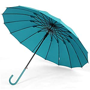 YOSHINO 傘 長傘 メンズ レディース ワンタッチ Teflon加工 210T高強度グラスファイバー 軽量 超撥水 耐強風 紳士傘 大型 梅雨対策 収納ポーチ付き