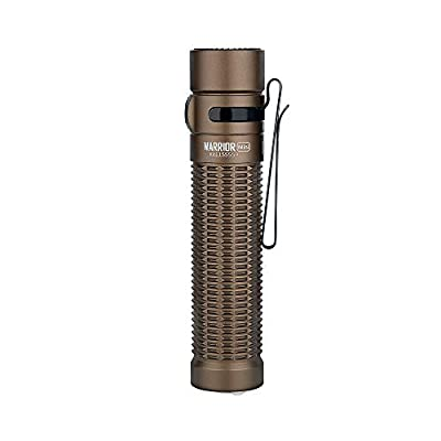 OLIGHT Warrior Mini Max 1500 lumens Dual-Switch Rechargeable Tactical Flashlight, Powered by 3500mAh 18650 Battery, with MCC 3 Charging Cable, Desert Tan