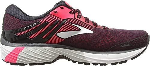 Brooks Adrenaline Gts 18, Women's Running Running Shoes, Multicolour (Black/Black/Pink 058), 4 UK (36.5 EU)