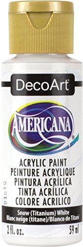 DecoArt Americana Pozi Peinture Acrylique 59 ML, Snow Titanium Blanc