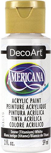DecoArt DA-01 Americana Acrylic Paint, 2-Ounce, Titanium, 2 Oz, Snow White