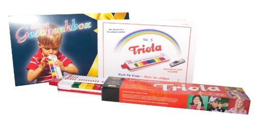 TRIOLA 12: die beliebte Blasharmonika für Kinder in der DC-Geschenkbox -- im Set mit dem brandaktuellen Liederbuch Band 5 (2-sprachige Kinderlieder [deutsch/englisch])