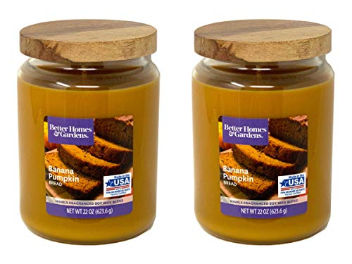 in budget affordable Better Homes Gardens Scented Candle, 22 oz, Banana Pumpkin Bread, 2 Pack