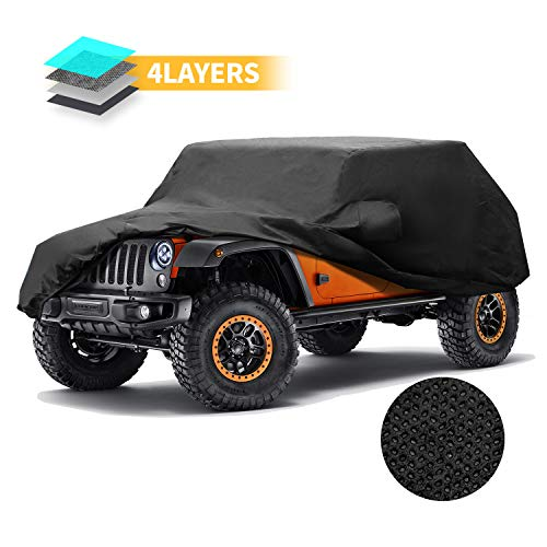 Jeep Cover Jeep Wrangler 4 Door Custom Car Covers Waterproof Black 4 Layers Cover for Jeep