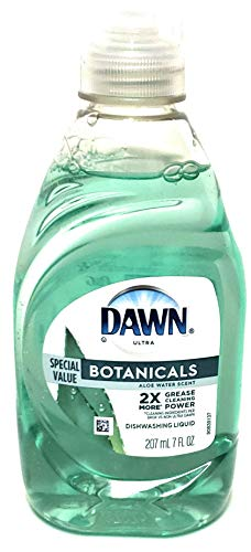 Dawn Ultra Botanicals - Aloe Water Scent 270 ml / 7 fl oz - 2X More Grease Cleaning Power - Phosphate Free