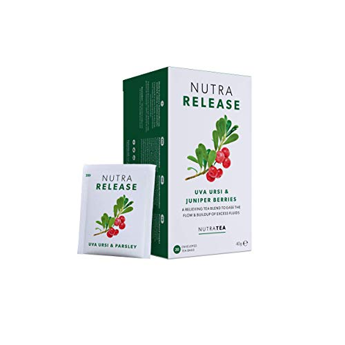 NUTRARELEASE - Water Retention Tea | Bloated Stomach Tea - Natural Diuretic For Water Balance - Includes Dandelion Root, Cleavers & Bearberry - 20 Enveloped Tea Bags - by Nutra Tea - Herbal Tea