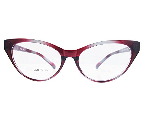 Agstum Ladies Womens Cat eye Glasses Frame Optical TR90 Eyeglasses (Gradient red)