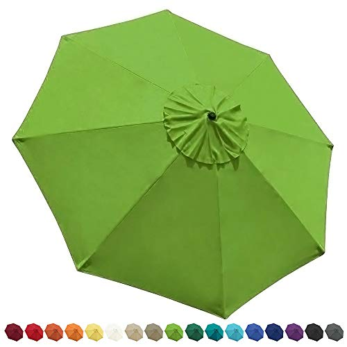 EliteShade 9ft Patio Umbrella Market Table Outdoor Deck Umbrella Replacement Canopy Cover (Canopy Only)(Macaw Green)